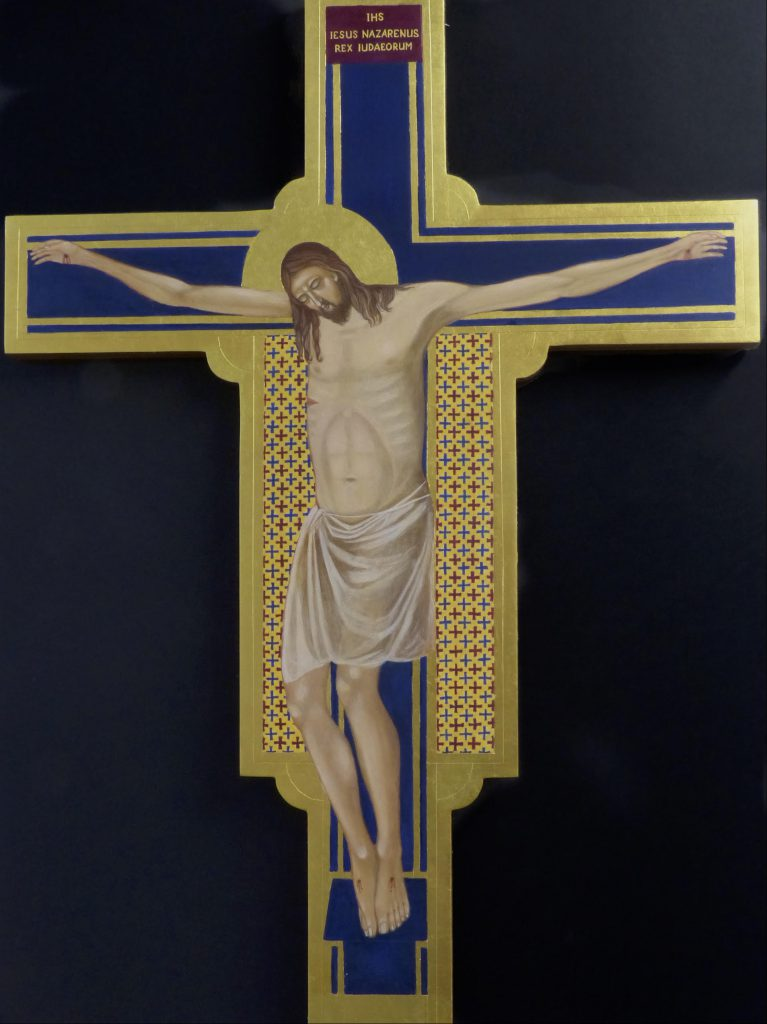 Crucifix for St George's  Hanover Square - written by Dr Derek Bird