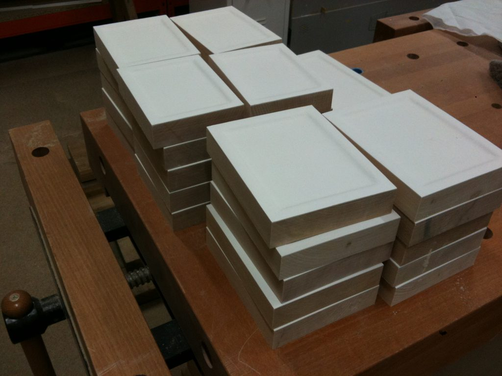 Finished icon boards ready for despatch