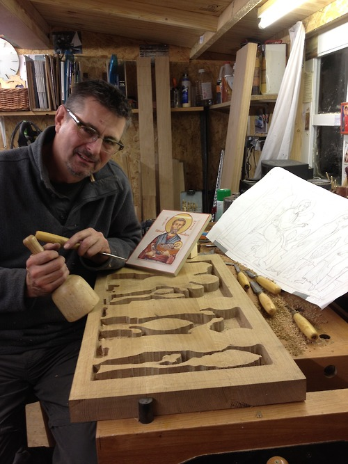 Work completed on the roughing out of the carving for the…