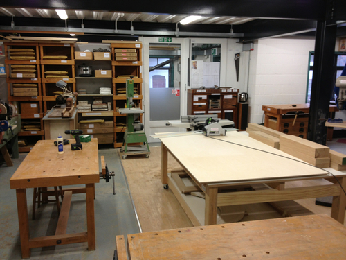 Inside the teaching workshop – The woodwork classroom