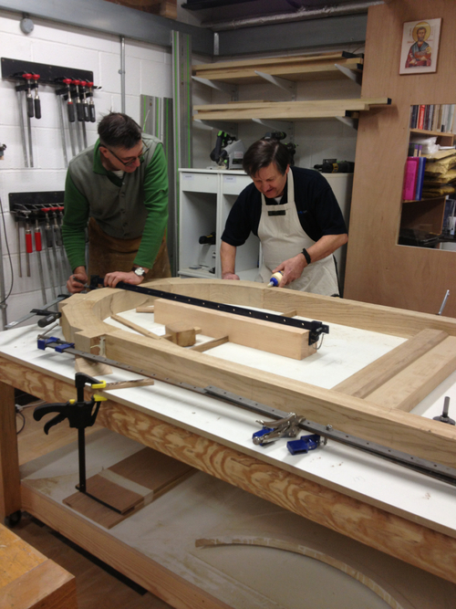Dylan and Roger glue up the Madrid arch