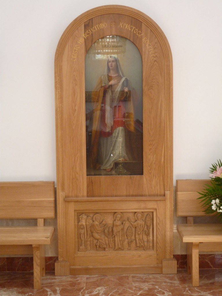 Icon casing for St Mary Magdalene's Russian Orthodox Church in Madrid.