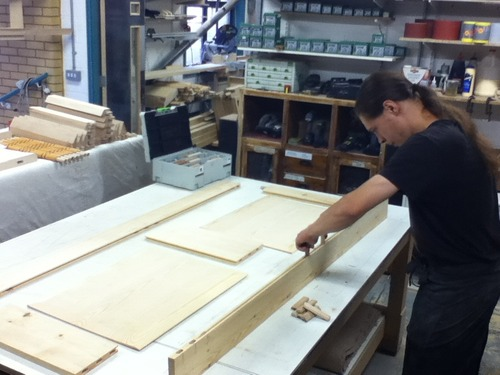 Alex glueing up a replica servants quarter door for a listed period house in Ironbridge. He also…