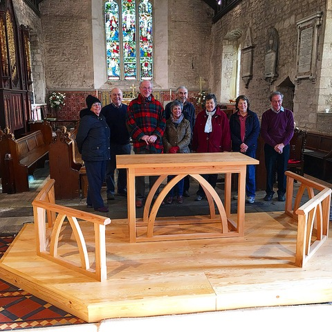 Cleobury Mortimer Alter and Communion Rails